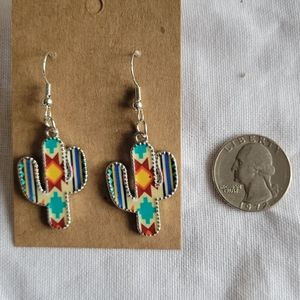 ⚫ southwest cactus Hand-made earrings